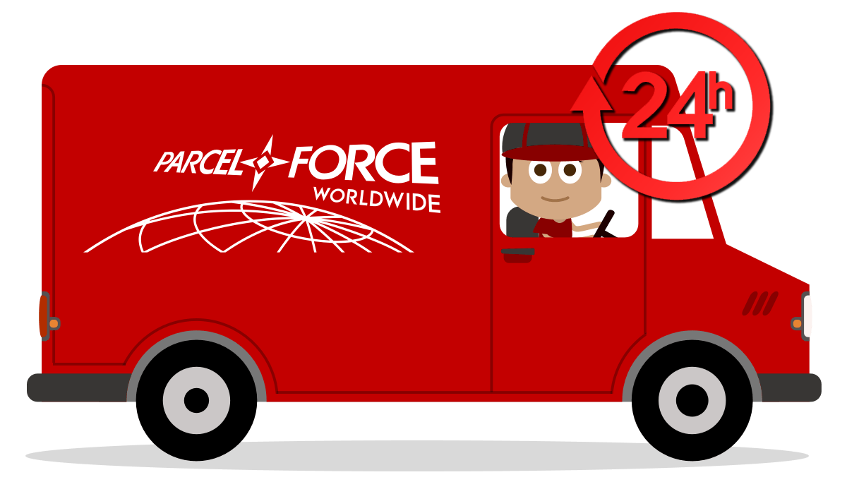 Twin Slot Shelving Parcel Force Logo