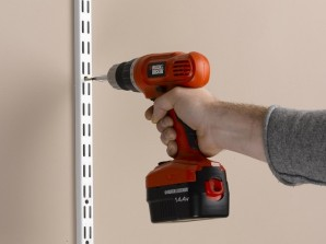 Drilling the wholes into the wall